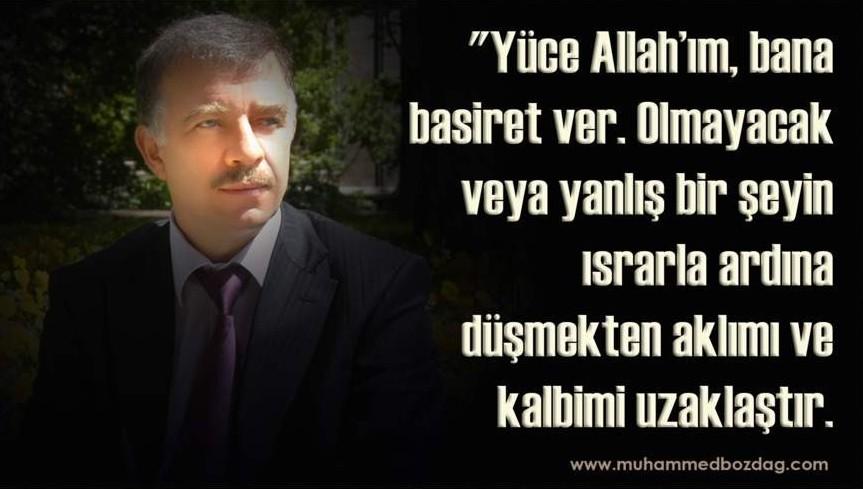 Muhammed Bozdağ Dua