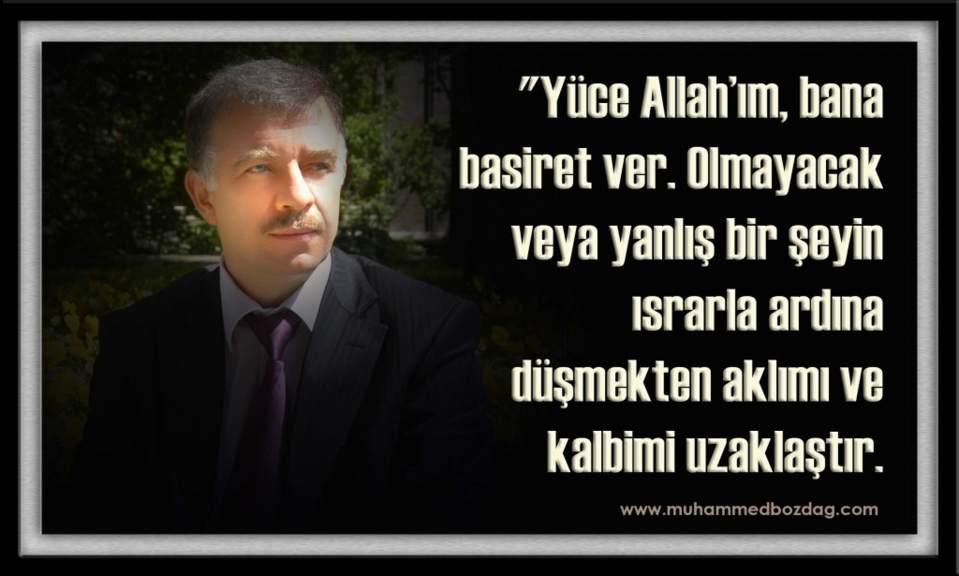 Muhammed Bozdağ -Dualar